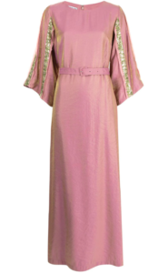 Baruni x Ramadan sequinned-band belted gown