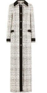 Dolce & Gabbana tweed boucle buttoned maxi coat