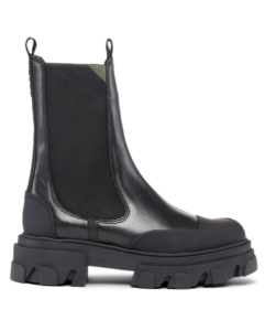 GANNI chunky leather Chelsea boots