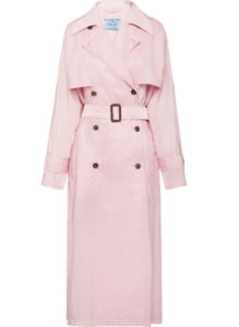 Prada flared trench coat