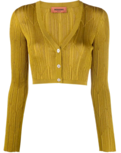 Missoni ribbed knit cropped cardigan