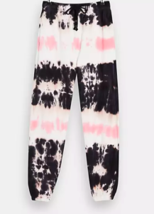 Topshop tie dye joggers in pink and black